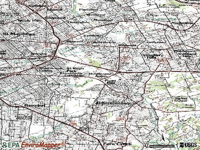 Hurstbourne Acres topographic map
