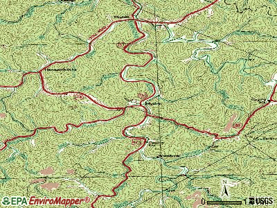 Hyden topographic map