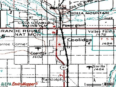 Coolidge topographic map