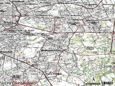 Jeffersontown topographic map