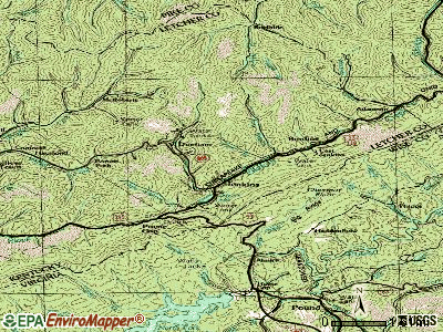 Jenkins topographic map
