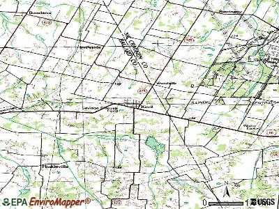 Kevil topographic map