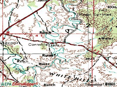 Cornville topographic map