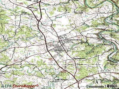 Lawrenceburg topographic map