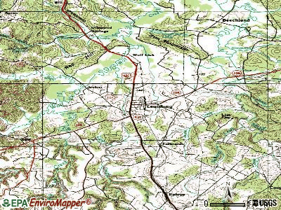 Lewisburg topographic map