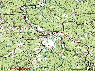 Louisa topographic map