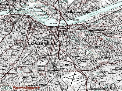 Louisville topographic map