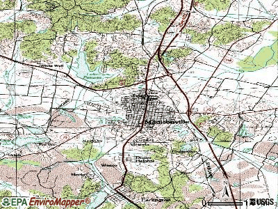 McKee topographic map