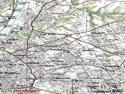 Manor Creek topographic map