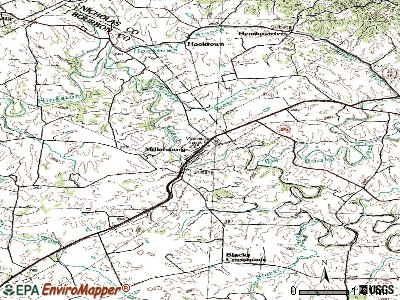 Millersburg topographic map