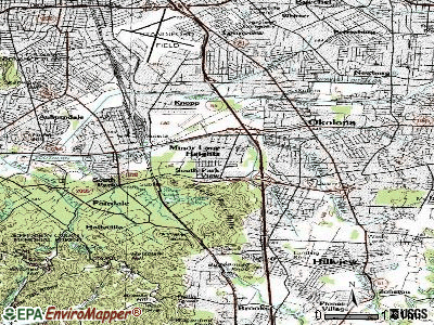 Minor Lane Heights topographic map