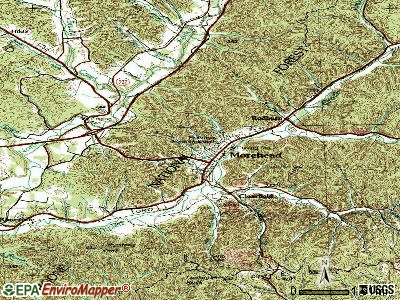 Morehead topographic map