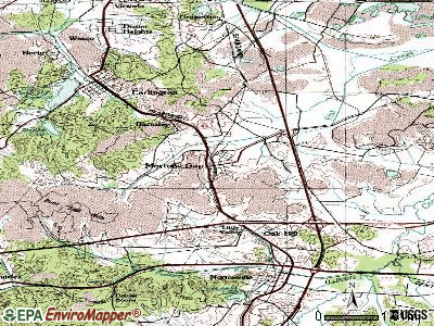 Mortons Gap topographic map