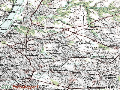 Newburg topographic map