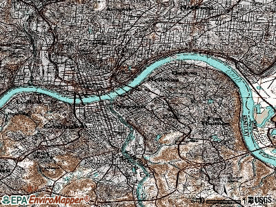 Newport topographic map