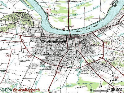 Owensboro topographic map