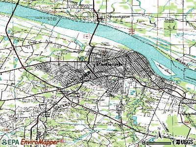 Paducah topographic map