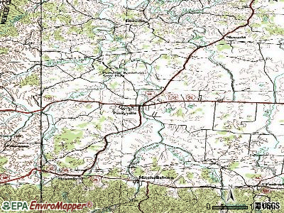 Perryville topographic map