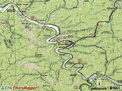 Pikeville topographic map