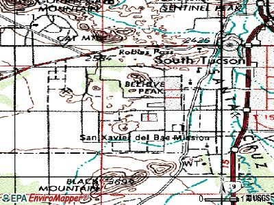 Drexel Heights topographic map