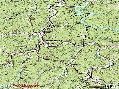 Prestonsburg topographic map