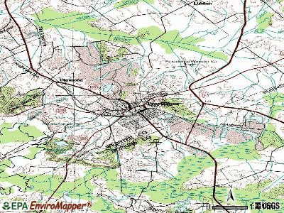 Providence topographic map