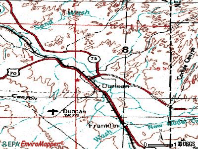 Duncan topographic map