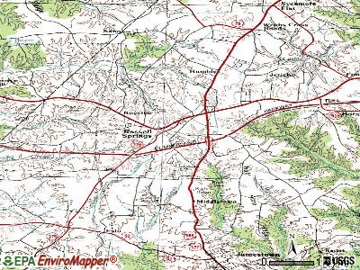 Russell Springs topographic map