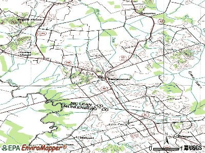 Sacramento topographic map