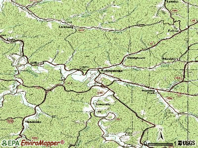 Salyersville topographic map