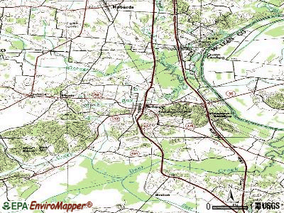 Sebree topographic map