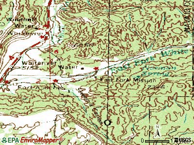 East Fork topographic map