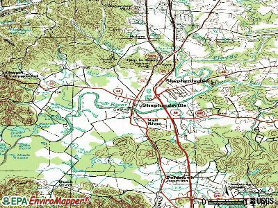 Shepherdsville topographic map