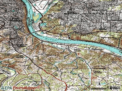 Silver Grove topographic map