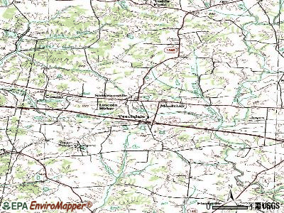 Simpsonville topographic map