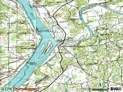 Smithland topographic map