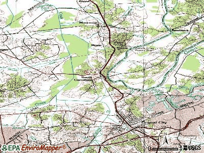 South Carrollton topographic map