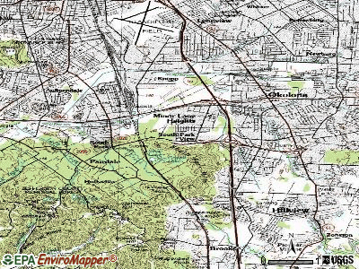 South Park View topographic map
