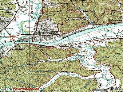 South Shore topographic map