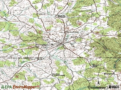 Tompkinsville topographic map