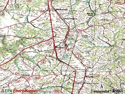 Walton topographic map