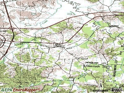 White Plains topographic map