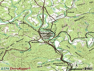 Williamsburg topographic map