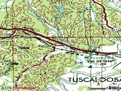 Coker topographic map