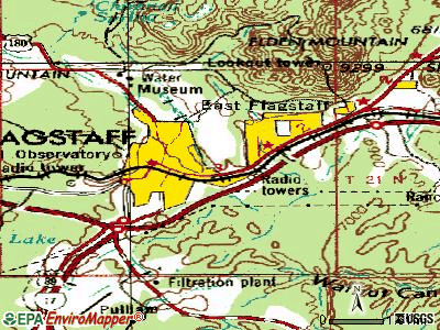 Flagstaff topographic map