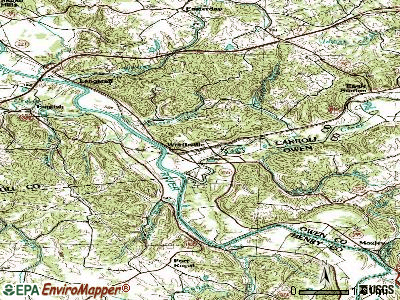 Worthville topographic map