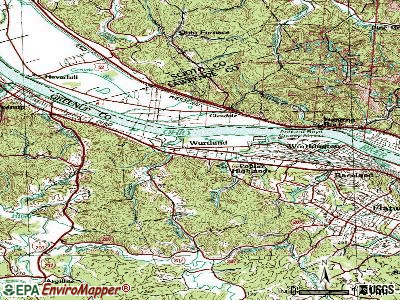 Wurtland topographic map