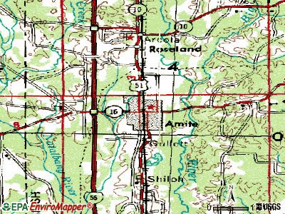 Amite City topographic map