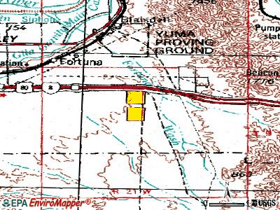 Fortuna Foothills topographic map
