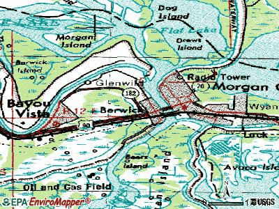 Berwick topographic map